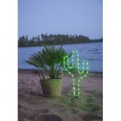 Светильник силуэт кактуса TUBE для улицы на батарейках, 63 см, зеленый