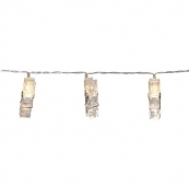 Гирлянда на батарейках CLIPPY, 1,35 м, прозрачный провод, прозрачный