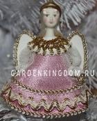 """Кукла подвесная малая """"Ангелочек"""", розовый"""
