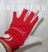 Перчатки садовые красные, размер M
