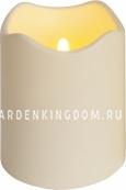Свеча пластиковая сенсорная,  12,5 см, белая