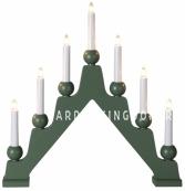 Светильник декоративный EMMA, 7 свечей, 45 см, зеленый