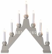 Светильник декоративный EMMA, 7 свечей, 45 см, серый