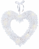 Светильник SNOWFLAKE HEART подвесной, 44 см, белый