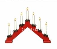 """Горка рождественская """"Рождество"""", 7 свечей, 30 см, красный"""