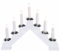 Горка рождественская ADA, 7 свечей, 30 см, белый