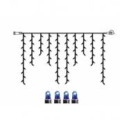 Гирлянда сосульки-расширение, 2х1 м, синий, черный провод, серия SYSTEM LED