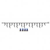 Гирлянда сосульки-расширение, 3х0,4 м, синий, черный провод, серия SYSTEM LED