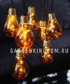Гирлянда  GLOW 10-LIGHT, 8,6 м, золотой