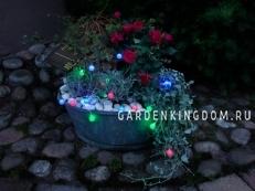 Гирлянда садовых светильников Шарики Solar energy, 6 штук, разноцветные