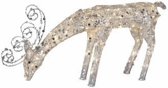 Фигура Олень SEQUINI, 55 см, серебряный