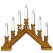 Горка рождественская SARA, 7 свечей, 38 см, бук