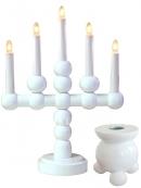 Светильник  с подсвечником BODIL+KUL, 5 свечей, 37 см, белый
