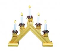 Горка рождественская KARIN-5, 5 свечей, 28 см, береза