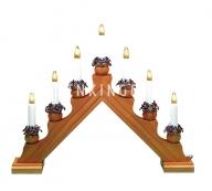 Горка рождественская KARIN-7, 7 свечей, 35 см, бук