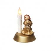 Светильник Ангел со свечой, 17 см, золото