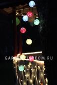 Гирлянда для улицы Рисовые шарики, разноцветная