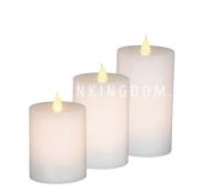 Комплект сенсорных свечей,  3 шт., белый воск