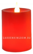 Свеча, 12 см, таймер, красный воск