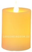 Свеча, 12 см, таймер, желтый воск