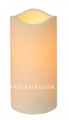 Свеча пластиковая,  15 см, белая