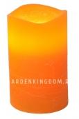 Свеча, 12,5 см, таймер, оранжевый воск