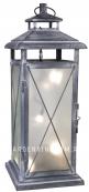 Светильник фонарь STALLIS с гирляндой, 45 см, серый