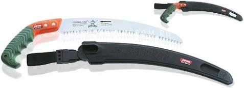 Пила с изогнутым полотном самоочищающаяся в чехле с поясным креплением, длина 330 мм