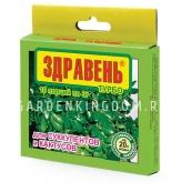 Удобрение Здравень турбо для кактусов и суккулентов, 10 шт. по 3 г.